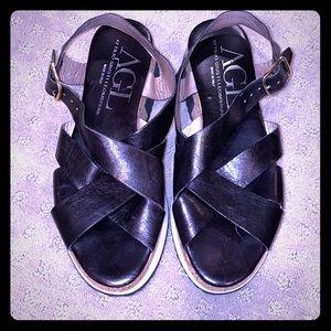 AGL platform slide sandals 39